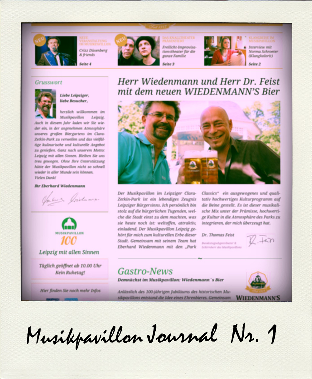 Musikpavillon Journal Ausgabe 1