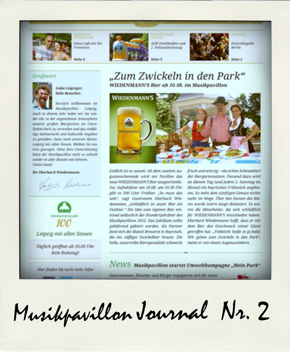 Musikpavillon Journal Ausgabe 2