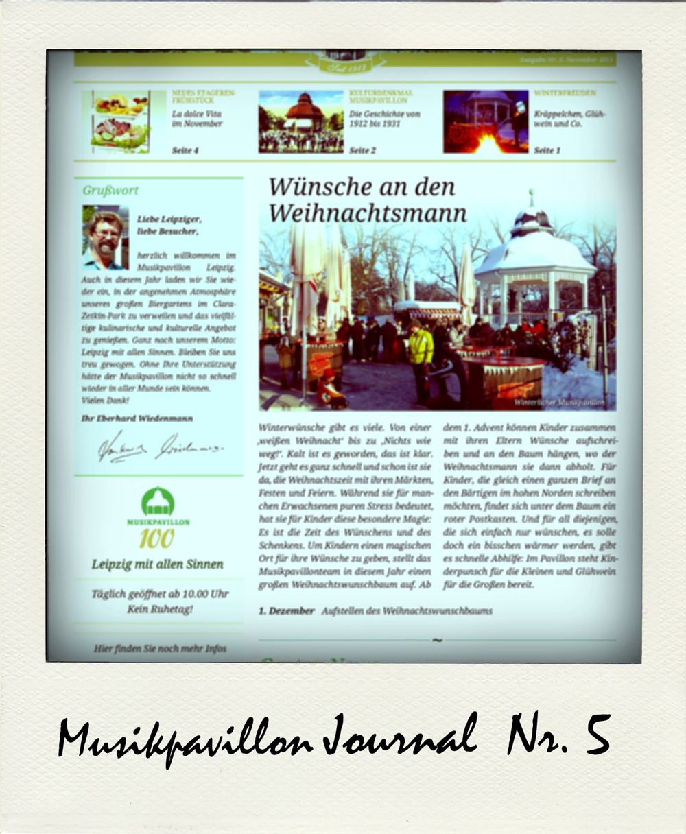 Musikpavillon Journal Ausgabe 5