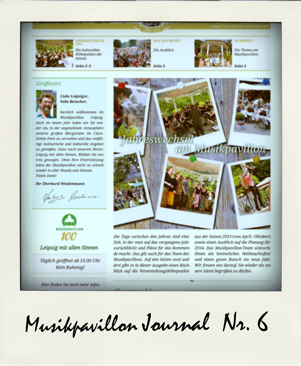 Musikpavillon Journal Ausgabe 6